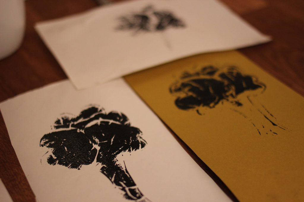 Test prints for interview book cover - trees