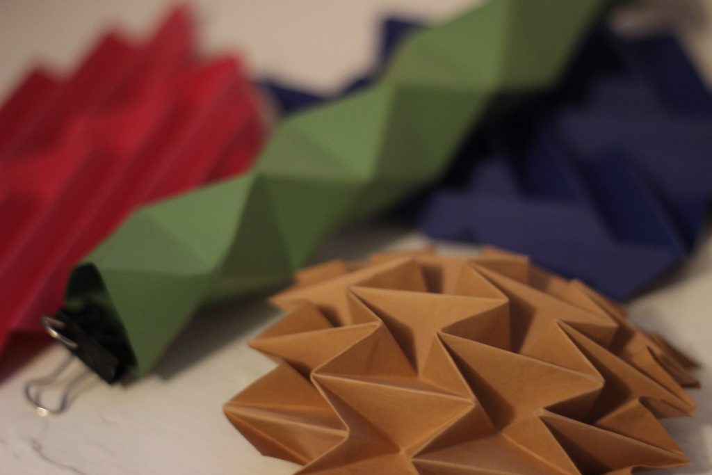 Origami and paper folding experimentation