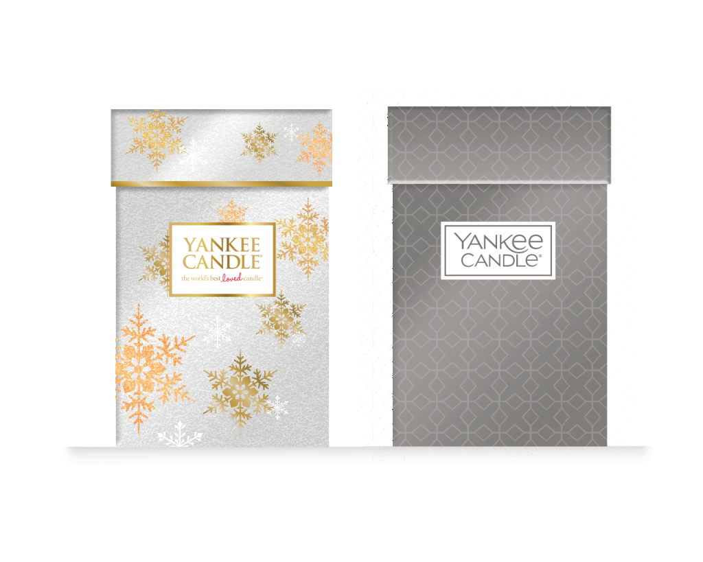 Yankee Candle large jar gift box ideas - utilising old and new brand identities and weaving in creative thematics