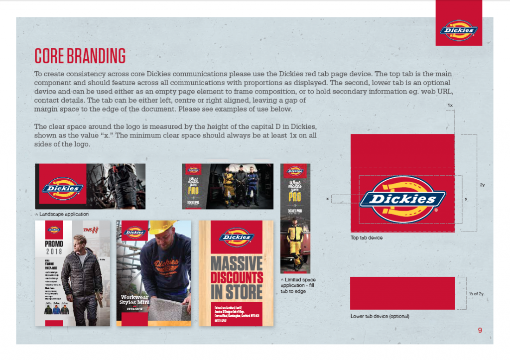 Dickies brand guidelines development