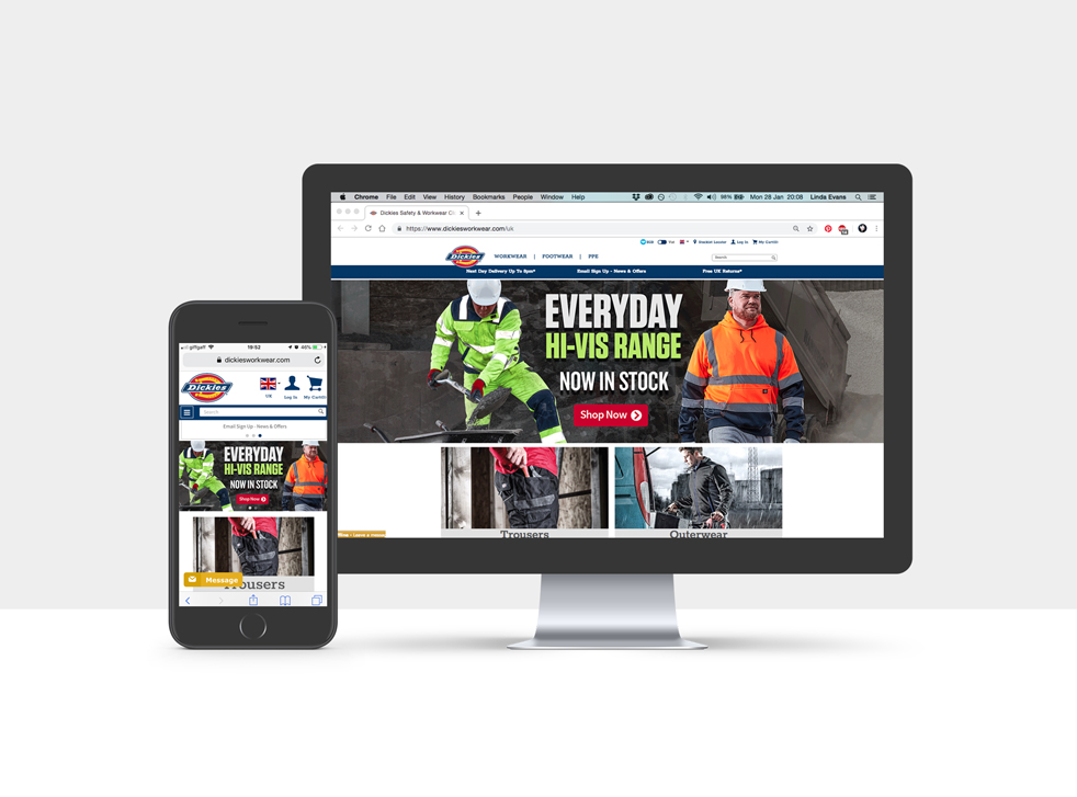 Hi-vis Homepage Banner Feature