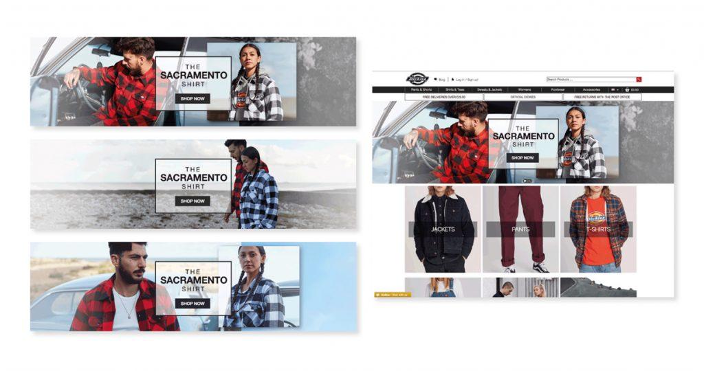 Sacramento Shirt Campaign 2018 - Homepage concepts
